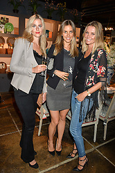 Left to right, SARA JOHANSSON, FREIDA LAURIE and MALIN JEFFERIES at a party to celebrate the publication of 'Feeding The Future' by Lohralee Astor and Tali Shine held at OKA, 155-167 Fulham Road, London on 8th June 2016.