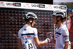 Cecilie Uttrup Ludwig (DEN) signs on at Giro Rosa 2018 - Stage 8, a 126.2 km road race from San Giorgio di Perlena to Breganze, Italy on July 13, 2018. Photo by Sean Robinson/velofocus.com