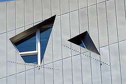 Detail of jagged windows in Jewish Museum in Berlin designed by Daniel Libeskind architect