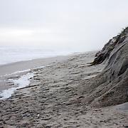Hurricane Ida beach dune erosion, Lavalette, NJ.