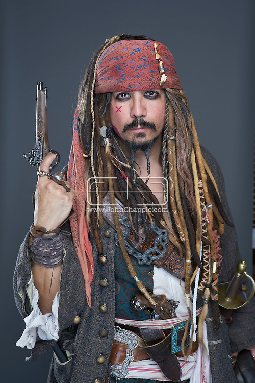 February 22, 2016. Las Vegas, Nevada.  The 22nd Reel Awards and Tribute Artist Convention in Las Vegas. Celebrity lookalikes from all over the world gathered at the Golden Nugget Hotel for the annual event. Pictured is  Johnny Depp lookalike, Matt Kay.<br /> Copyright John Chapple / www.JohnChapple.com /