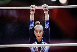 October 28, 2018 - Doha, Quatar - Juliette Bossu of  France   during  Uneven Bars qualification at the Aspire Dome in Doha, Qatar, Artistic FIG Gymnastics World Championships on 28 of October 2018. (Credit Image: © Ulrik Pedersen/NurPhoto via ZUMA Press)