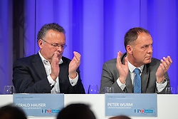06.04.2019, Congresspark, Igls, AUT, 32. Ordentlicher Landesparteitag der FPÖ Tirol, im Bild NR Gerald Hauser, Peter Wurm // during the 32th Ordinary party convention of the FPÖ Tyrol at the Congresspark in Igls, Austria on 2019/04/06. EXPA Pictures © 2019, PhotoCredit: EXPA/ Johann Groder