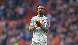 MANCHESTER, ENGLAND - Sunday, February 24, 2019: Liverpool's Daniel Sturridge applauds the travelling supporter after the FA Premier League match between Manchester United FC and Liverpool FC at Old Trafford. The game ended in a 0-0 draw. (Pic by David Rawcliffe/Propaganda)