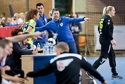 Uros Bregar, head coach of RK Krim Mercator during handball match between RK Krim Mercator and FC Midtjylland in Main Round of Women's EHF Champions League 2017/18 , on January 27, 2018 in Sports hall Kodeljevo, Ljubljana, Slovenia. Photo by Urban Urbanc / Sportida