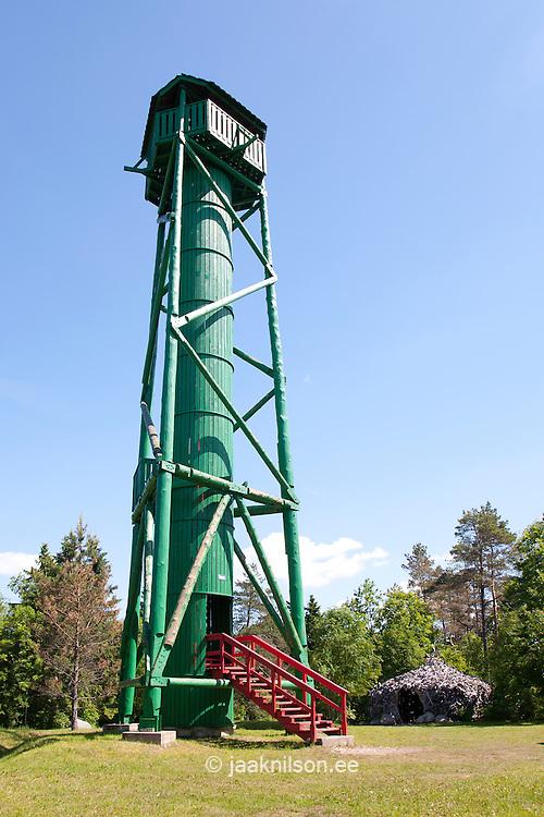 Wooden Watchtower, Emumägi, Estonia-