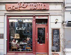 Small bohemian cafe in Prenzlauer Berg district of Berlin Germany