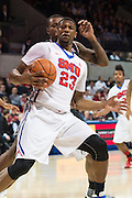 DALLAS, TX - JANUARY 7: Jordan Tolbert #23 of the SMU Mustangs drives to the basket against the Cincinnati Bearcats on January 7, 2016 at Moody Coliseum in Dallas, Texas.  (Photo by Cooper Neill/Getty Images) *** Local Caption *** Jordan Tolbert