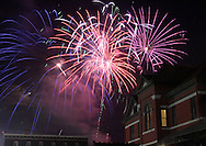 Port Jervis, NY - Fireworks explode in the sky over Port Jervis during the city's centennial celebration on July 28, 2007..