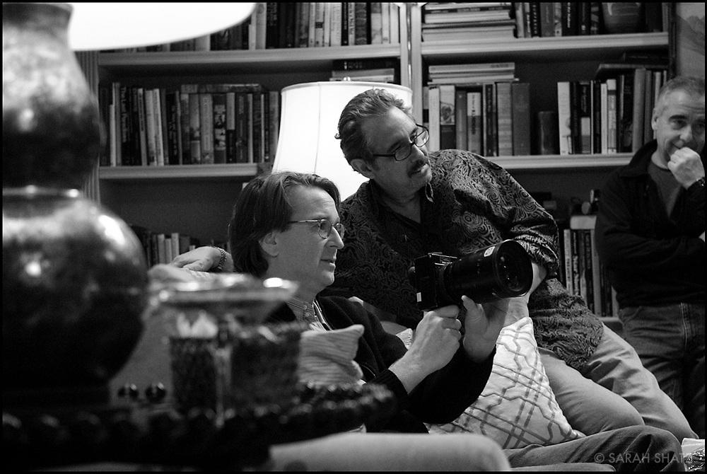 "David Koepp, Fred Murphy, Bruce MacCallum on the set of ""Ghost Town"" (Dir: David Koepp, 2008)"