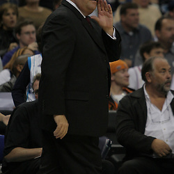 Nov 19, 2009; New Orleans, LA, USA;  New Orleans Hornets head coach Jeff Bower instructs his team during a game against the Phoenix Suns at the New Orleans Arena. The Hornets defeated the Suns 110-103. Mandatory Credit: Derick E. Hingle-US PRESSWIRE