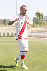 04.08.2015, Ciudad Deportiva del Rayo Vallecano, Madrid, ESP, Primera Division, Rayo Vallecano, Spielerpraesentation, im Bild Rayo Vallecano's new player Patrick Ebert // during his official presentation as a new player of the Spanish Primera Division Club Rayo Vallecano at the Ciudad Deportiva del Rayo Vallecano in Madrid, Spain on 2015/08/04. EXPA Pictures © 2015, PhotoCredit: EXPA/ Alterphotos/ Acero<br /> <br /> *****ATTENTION - OUT of ESP, SUI*****