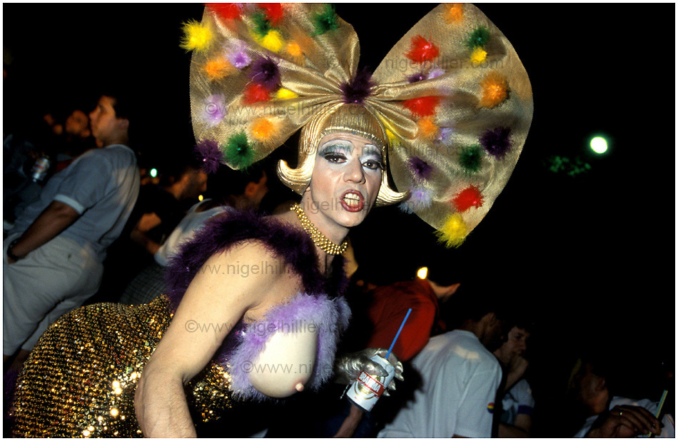Gay Festival, Sao Paolo..Copyright: Nigel Hillier:..8 Broadstone Cottages.Colden .Hebden Bridge.West Yorks HX7 7PQ