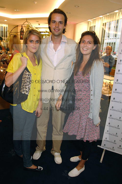 Left to right, VIOLET VON WESTENHOLZ, CHARLIE GILKES and AMANDA SHEPPARD  at the launch party for the Mappin & Webb Regents Street branch at 132 Regent Street, London on 19th June 2007.<br /><br />NON EXCLUSIVE - WORLD RIGHTS