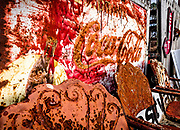 Rust consumes these old metal chairs and Coca-Cola sign at the Red Cross Antique Store in Red Cross, NC.