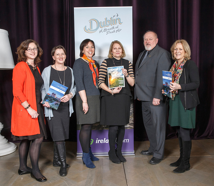Tourism Ireland Celtic Connections 2016 event in the Corinthian, Glasgow. L to R :  Linda Duncan TI, Ann McDonald Glenton Holidays, Susanne Reid Christ Church cathedral, Dervla O'Neill Epic Ireland , Peter Byrne City North Hotel and Ann Kilcoyne Glasnevin Cemetery Museum.  Picture Robert Perry 27th Jan 2016<br /> <br /> Must credit photo to Robert Perry<br /> <br /> Image is free to use in connection with the promotion of the above company or organisation. 'Permissions for ALL other uses need to be sought and payment make be required.<br /> <br /> <br /> Note to Editors:  This image is free to be used editorially in the promotion of the above company or organisation.  Without prejudice ALL other licences without prior consent will be deemed a breach of copyright under the 1988. Copyright Design and Patents Act  and will be subject to payment or legal action, where appropriate.<br /> www.robertperry.co.uk<br /> NB -This image is not to be distributed without the prior consent of the copyright holder.<br /> in using this image you agree to abide by terms and conditions as stated in this caption.<br /> All monies payable to Robert Perry<br /> <br /> (PLEASE DO NOT REMOVE THIS CAPTION)<br /> This image is intended for Editorial use (e.g. news). Any commercial or promotional use requires additional clearance. <br /> Copyright 2015 All rights protected.<br /> first use only<br /> contact details<br /> Robert Perry     <br /> 07702 631 477<br /> robertperryphotos@gmail.com<br />        <br /> Robert Perry reserves the right to pursue unauthorised use of this image . If you violate my intellectual property you may be liable for  damages, loss of income, and profits you derive from the use of this image.