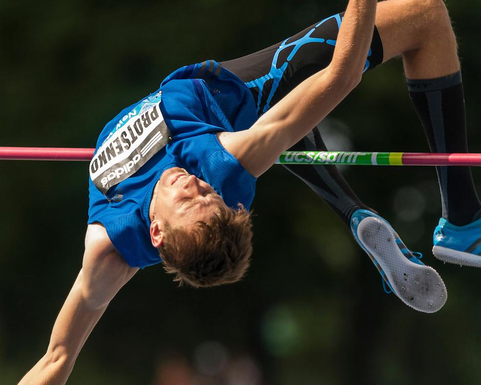Andrly Protsenko, Ukraine, men's high jump, adidas Grand Prix Diamond League track and field meet