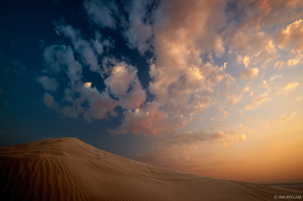 Sunset and Dune - Arabian Desert, U.A.E.