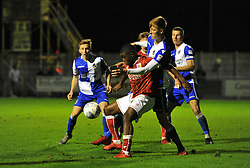 Kel Akpobire of Bristol City battles with Ben Morgan of Bristol Rovers - Mandatory by-line: Paul Knight/JMP - 16/11/2017 - FOOTBALL - Woodspring Stadium - Weston-super-Mare, England - Bristol City U23 v Bristol Rovers U23 - Central League Cup