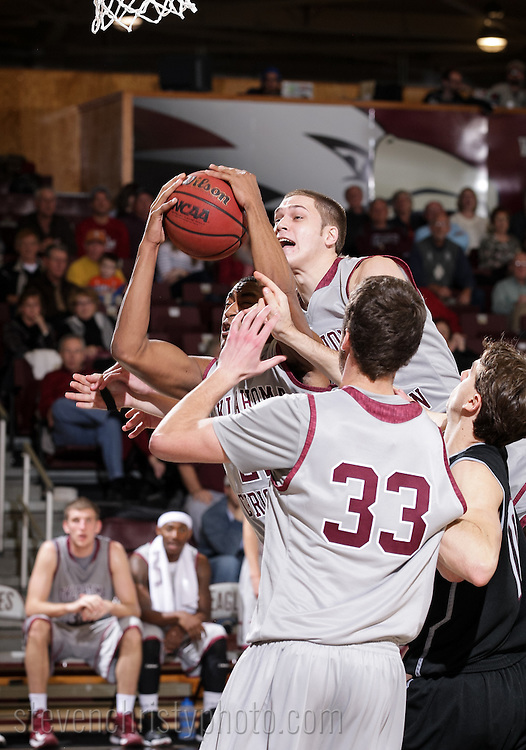 January 24, 2013: The Texas A&M International University Dustdevils play against the Oklahoma Christian University Eagles at the Eagles Nest on the campus of Oklahoma Christian University.