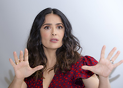 April 1, 2017 - Hollywood, California, U.S. - SALMA HAYEK promotes 'How to be a Latin Lover' Salma Hayek (born September 2, 1966) is a Mexican-American film actress, producer, and former model. She began her career in Mexico starring in the telenovela Teresa and starred in the film El Callejon de los Milagros (Miracle Alley) for which she was nominated for an Ariel Award. In 1991 Hayek moved to Hollywood and came to prominence with roles in movies such as Desperado (1995), From Dusk Till Dawn (1996), Dogma (1999), and Wild Wild West (1999). Her breakthrough role was in the 2002 film Frida as Mexican painter Frida Kahlo for which she was nominated in the category of Best Actress for an Academy Award, BAFTA Award, Screen Actors Guild Award, and Golden Globe Award. This movie received widespread attention and was a critical and commercial success. She won a Daytime Emmy Award for Outstanding Directing in a Children/Youth/Family Special in 2004 for The Maldonado Miracle and received an Emmy Award nomination for Outstanding Guest Actress in a Comedy Series in 2007 after guest-starring in the ABC television comedy-drama Ugly Betty. She also guest-starred on the NBC comedy series 30 Rock from 2009 to 2013. Hayek's recent films include Grown Ups (2010), Puss in Boots (2011), Grown Ups 2 (2013), and Tale of Tales (2015).The Hitman's Bodyguard (2017), How to Be a Latin Lover (2017), Drunk Parents (2017), Beatriz at Dinner (2017). (Credit Image: © Armando Gallo via ZUMA Studio)