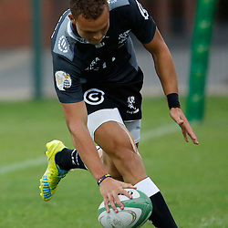 DURBAN, SOUTH AFRICA, 23, April 2016 - Curwin Bosch of the Cell C Sharks XV over for a try during the  Currie Cup Qualifiers match between The Cell C Sharks XV vs Windhoek Draught Welwitschias,King Zwelithini Stadium, Umlazi, Durban, South Africa. Kevin Sawyer (Steve Haag Sports) images for social media must have consent from Steve Haag