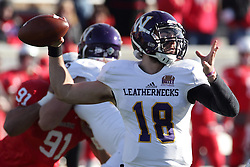05 December 2015:  Sean McGuire(18). NCAA FCS Round 2 Football Playoff game between Western Illinois Leathernecks and Illinois State Redbirds at Hancock Stadium in Normal IL (Photo by Alan Look)