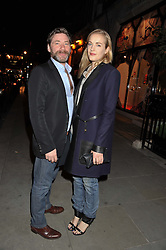 MATT COLLISHAW and POLLY MORGAN at a reception hosted by Ralph Lauren Double RL and Dexter Fletcher before a private screening of Wild Bill benefitting FilmAid held at RRL 16 Mount Street, London on 26th March 2012.