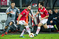 ALKMAAR - 26-11-15, Europa League, AZ  - FK Partizan, AFAS Stadion, Partizan speler Subic, AZ speler Alireza Jahanbakhsh, AZ speler Joris van Overeem.