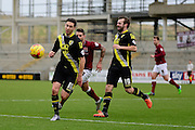 Morecambe Midfielder Lee Molyneux during the Sky Bet League 2 match between Northampton Town and Morecambe at Sixfields Stadium, Northampton, England on 23 January 2016. Photo by Dennis Goodwin.