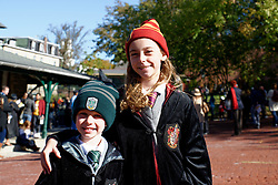 For siblings Henry, 6, and Isabella Godin, 9, of Plymouth Meeting it is the first time they attent the annual Harry Potter Festival in Chestnut Hill. (Bastiaan Slabbers/for PhillyVoice)