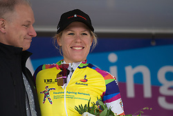 Ellen van Dijk (NED) of Team Sunweb retains the yellow jersey as the leader of the Overall Classification after Stage 2 of the Healthy Ageing Tour - a 19.6 km team time trial, starting and finishing in Baflo on April 6, 2017, in Groeningen, Netherlands.
