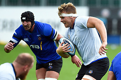 Josh McNally in possession, Bath Rugby were allowed to start Stage Two of the Premiership Rugby return to play protocol - Mandatory byline: Patrick Khachfe/JMP - 07966 386802 - 06/08/2020 - RUGBY UNION - The Recreation Ground - Bath, England - Bath Rugby training