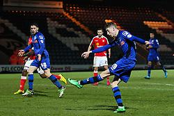 Rochdale's Joe Bunney scores his sides second goal  - Photo mandatory by-line: Matt McNulty/JMP - Mobile: 07966 386802 - 03/03/2015 - SPORT - football - Rochdale - Spotland Stadium - Rochdale v Crewe Alexandra - Sky Bet League One