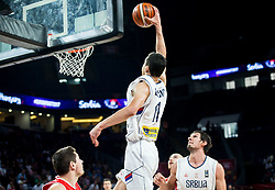 Vladimir Lucic of Serbia during basketball match between National Teams of Serbia and Hungary at Day 11 in Round of 16 of the FIBA EuroBasket 2017 at Sinan Erdem Dome in Istanbul, Turkey on September 10, 2017. Photo by Vid Ponikvar / Sportida