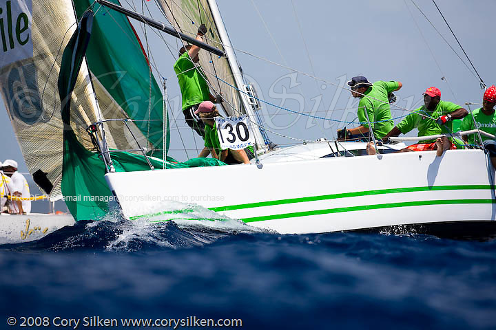 bmobile sailing race 3 at Antigua Sailing Week.