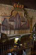The Las Piñas Bamboo Organ in St. Joseph Parish Church in Las Piñas City, the Philippines. The unique organ was declared a National Cultural Treasure in 2003. (photo by Andrew Aitchison / In pictures via Getty Images)