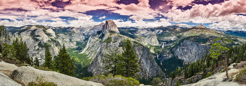 Yosemite National Park, Panoramic view from Glacier Point, California, USA