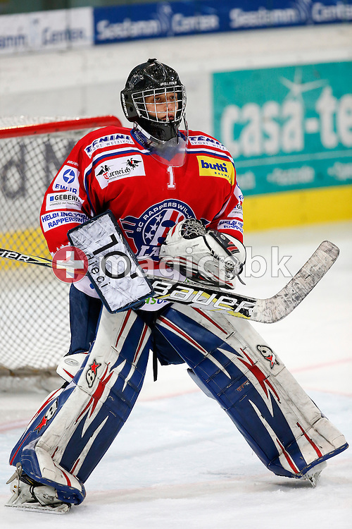 Rapperswil-Jona Lakers goaltender Christoph VON BURG is pictured during a Novizen Elite ice hockey game between Rapperswil-Jona Lakers and SC Bern Future held at the Diners Club Arena in Rapperswil, Switzerland, Saturday, Feb. 6, 2016. (Photo by Patrick B. Kraemer / MAGICPBK)