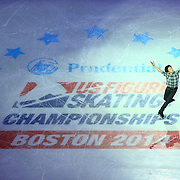 Nathan Chen is seen during the Smucker's Skating Spectacular at the TD Garden on January 12, 2014 in Boston, Massachusetts.