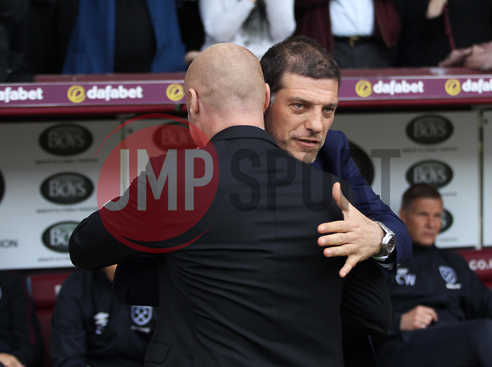 West Ham United manager Slaven Bilic (R) and Burnley manager Sean Dyche before the match - Mandatory by-line: Jack Phillips/JMP - 21/05/2017 - FOOTBALL - Turf Moor - Burnley, England - Burnley v West Ham United - Premier League
