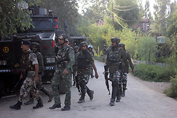 August 13, 2017 - Shopian, Jammu and Kashmir, India - Three local rebels and two army men were killed in a gunfight between security forces and rebels in Awneera village of Shopian in south Kashmir, 72 km from Srinagar. (Credit Image: © Muneeb Ul Islam/Pacific Press via ZUMA Wire)
