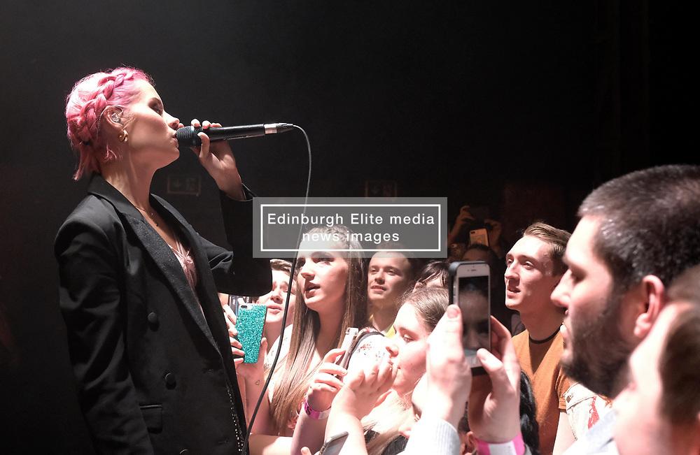 Nina Nesbitt at SWG3 in Glasgow as part of her 'The Sun Will Come Up' UK Tour 2019 <br /> <br /> Pictured: Nina Nesbitt<br /> <br /> (c) Aimee Todd | Edinburgh Elite media
