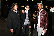 l to r: Gettelin Renee, Trevor Swain, and Donald Mock at the 2010 Mercedes Benz Fall Fashion Week held at Bryant Park on February 12, 2010 in New York City