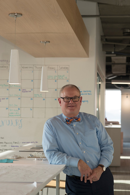 John Schrott, President of IKM, at their new offices in downtown Pittsburgh.
