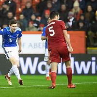 Aberdeen v St Johnstone…08.12.18…   Pittodrie    SPFL<br />Blair Alston scores saints second goal<br />Picture by Graeme Hart. <br />Copyright Perthshire Picture Agency<br />Tel: 01738 623350  Mobile: 07990 594431