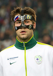 Bostjan Cesar of Slovenia during EURO 2012 Quaifications game between National teams of Slovenia and Italy, on March 25, 2011, in SRC Stozice, Ljubljana, Slovenia. Italy defeated Slovenia 1-0.  (Photo by Vid Ponikvar / Sportida)