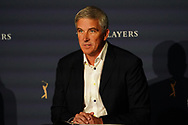 PGA Tour Commissioner Jay Monahan speaking to the media at the Players Championship, TPC Sawgrass, Ponte Vedra Beach, Florida, USA. 12/03/2020<br /> Picture: Golffile   Fran Caffrey<br /> <br /> <br /> All photo usage must carry mandatory copyright credit (© Golffile   Fran Caffrey)