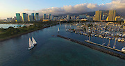 Ala Moana Park; Ala Wai Yacht Harbor; Waikiki; Honolulu; Oahu; Hawaii;
