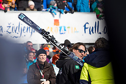 Adrea Massi during flower ceremony after Men's Slalom race of FIS Alpine Ski World Cup 57th Vitranc Cup 2018, on March 4, 2018 in Kranjska Gora, Slovenia. Photo by Urban Urbanc / Sportida